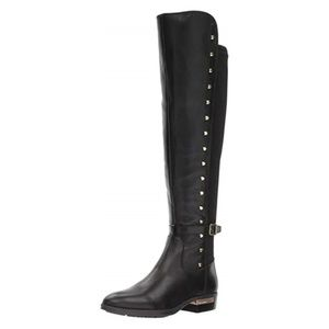 NWT Vince Camuto over knee leather black boots